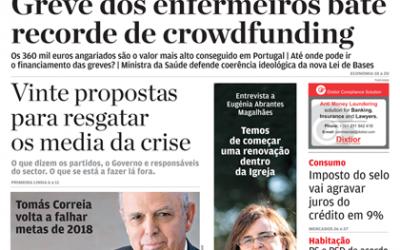 Eugénia Magalhães em capa e entrevista do Jornal de Negócios
